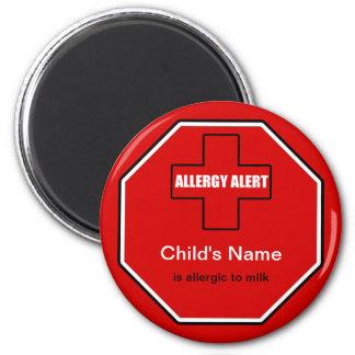 Milk Allergy Medical Allergic Alert Std Magnet