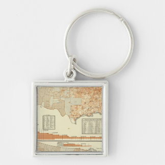 Milk and butter Silver-Colored square keychain