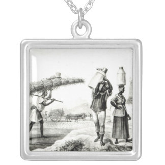 Milk and Capim Vendors Silver Plated Necklace