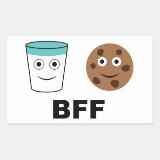 Milk and Cookie-Best Friends Forever Rectangular Sticker