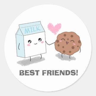 Milk and Cookie Best Friends Stickers