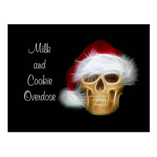 Milk and Cookie Overdose Postcard