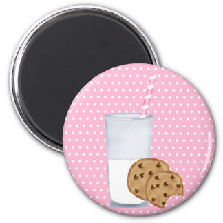 milk and cookies 2 inch round magnet