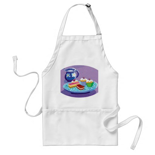 Milk and cookies adult apron