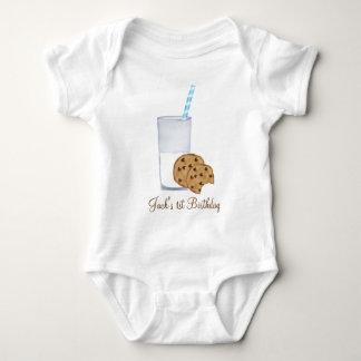 milk and cookies baby bodysuit