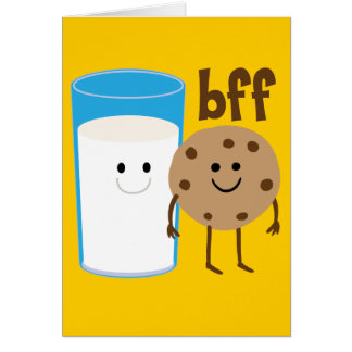Milk And Cookies BFF Greeting Cards