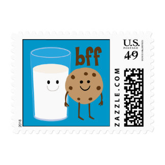 Milk And Cookies BFF Postage