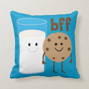 OfficeGangsta Milk And Cookies BFF Throw Pillow