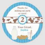 Milk and Cookies Birthday Party Sticker