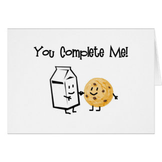Milk and Cookies Greeting Cards