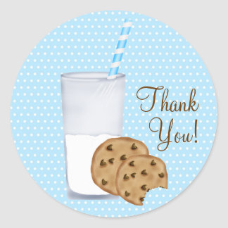 milk and cookies classic round sticker