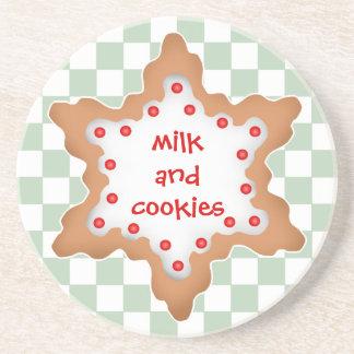 Milk and cookies drink coaster