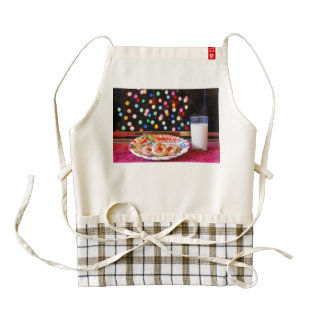 Milk and cookies for Santa Claus Zazzle HEART Apron