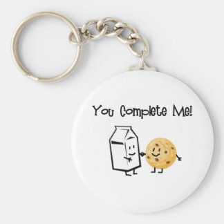Milk and Cookies Basic Round Button Keychain