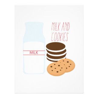 Milk and Cookies Personalized Letterhead