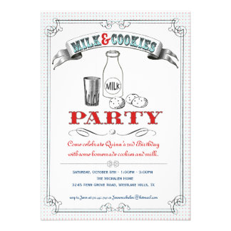 Milk and Cookies Party Invitation