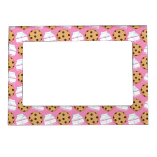Milk and Cookies Pattern Magnetic Photo Frame
