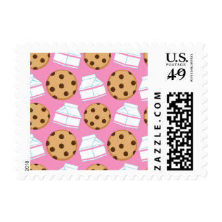 Milk and Cookies Pattern Postage