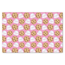 Milk and Cookies Pattern Tissue Paper
