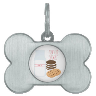 Milk and Cookies Pet Name Tags