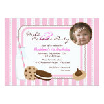 Milk and Cookies Photo Birthday 5x7 Paper Invitation Card