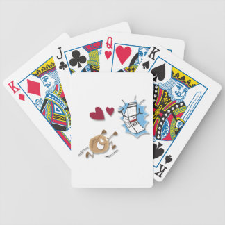 Milk and cookies playing cards