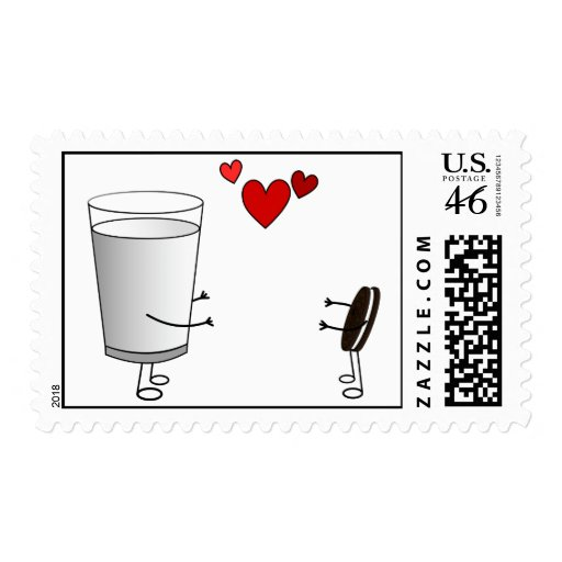 Milk and Cookies Postage Stamps