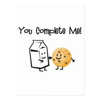 Milk and Cookies Postcard