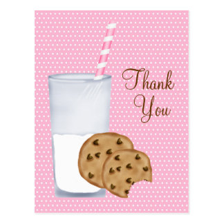 milk and cookies postcard