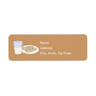 Milk and Cookies Return Address Label