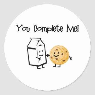 Milk and Cookies Classic Round Sticker