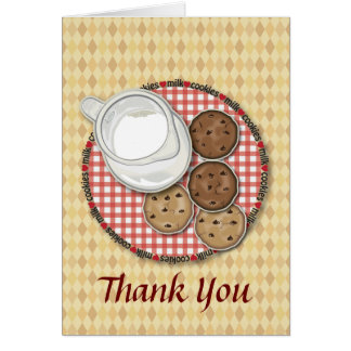 Milk and Cookies Thank You Card
