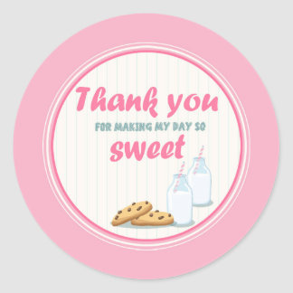 Milk and Cookies Thank You Tags Cupcake Toppers
