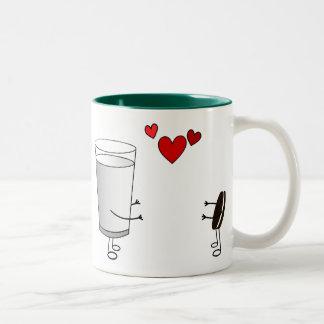 Milk and Cookies Two-Tone Coffee Mug