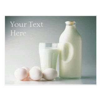 Milk and Eggs Postcard