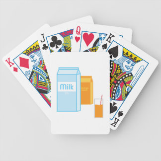 Milk and OJ Bicycle Playing Cards