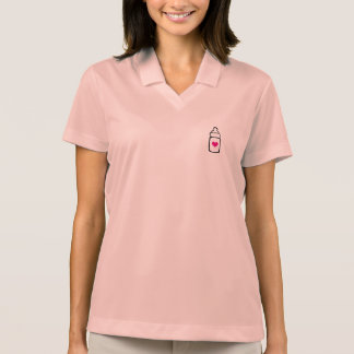 Milk bottle with heart polo shirt