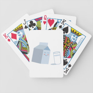 Milk Carton Bicycle Playing Cards