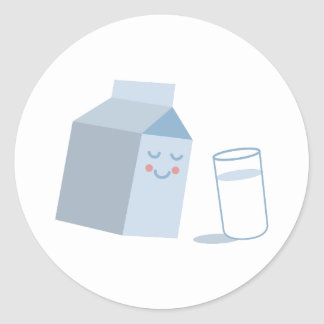 Milk Carton Classic Round Sticker