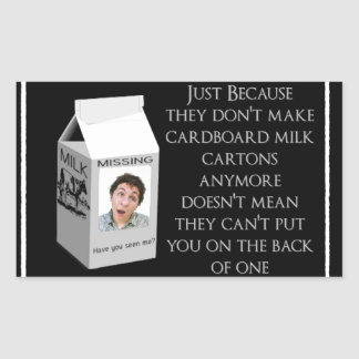 Milk Carton Insult Sticker