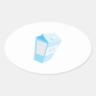 Milk Carton Oval Sticker