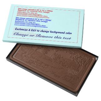 Milk Chocolate 2 Pound Bar-Holiday Scene