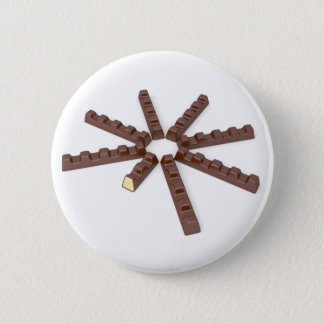 Milk chocolate bars pinback button