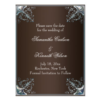Milk Chocolate Brown Wedding Invitations Postcard