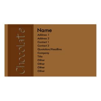 Milk Chocolate Business Card
