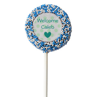 Milk Chocolate Dipped Oreo Cookie Pops Baby Shower