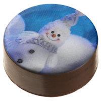 Milk Chocolate Dipped Oreo Cookies/Snowman