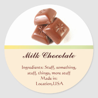 Milk Chocolate Flavor Labels