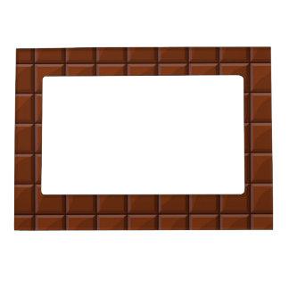 Milk chocolate magnetic frame