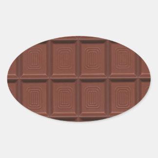 Milk chocolate oval sticker